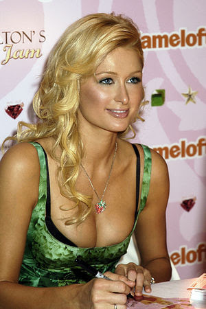 Paris Hilton promoting her cell-phone video ga...