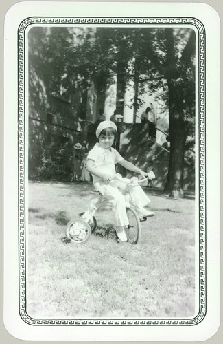 Girl on a tricycle