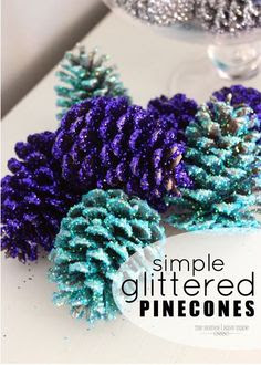 The Homes I Have Made: Glittered Pinecones
