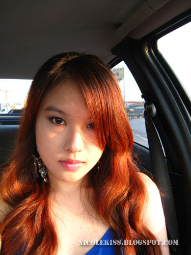 bright orange sunlight hair