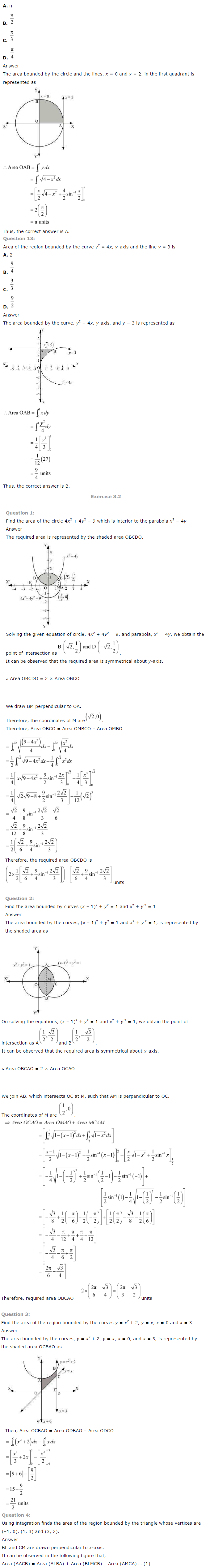 NCERT Solutions for Class 12 Maths Chapter 8 Application of Integrals ex 8.3