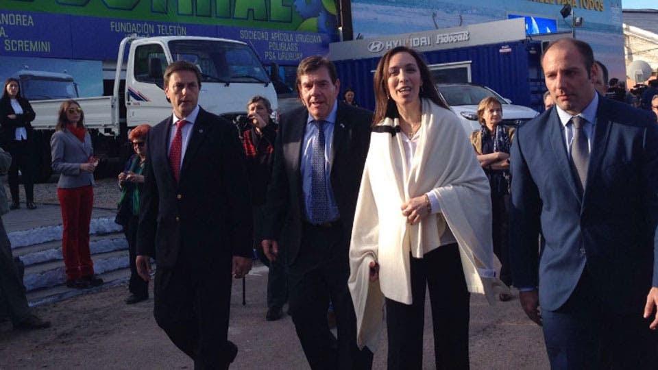 La gobernadora bonaerense María Eugenia Vidal hizo el anuncio en Uruguay. Foto: Twitter