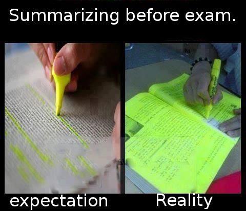 Summarizing Before Exam Funny Pictures Quotes Pics Photos