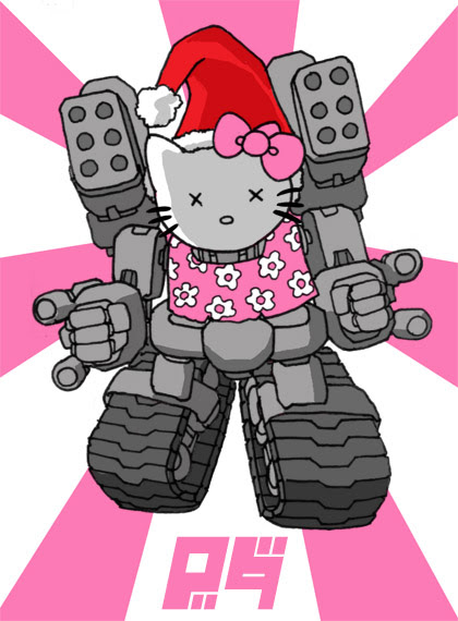 Reanimated Kill-bot Hello Kitty Revenge Santa