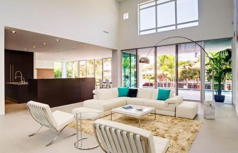25 Aesthetically Advanced Living Room Designs with High ...