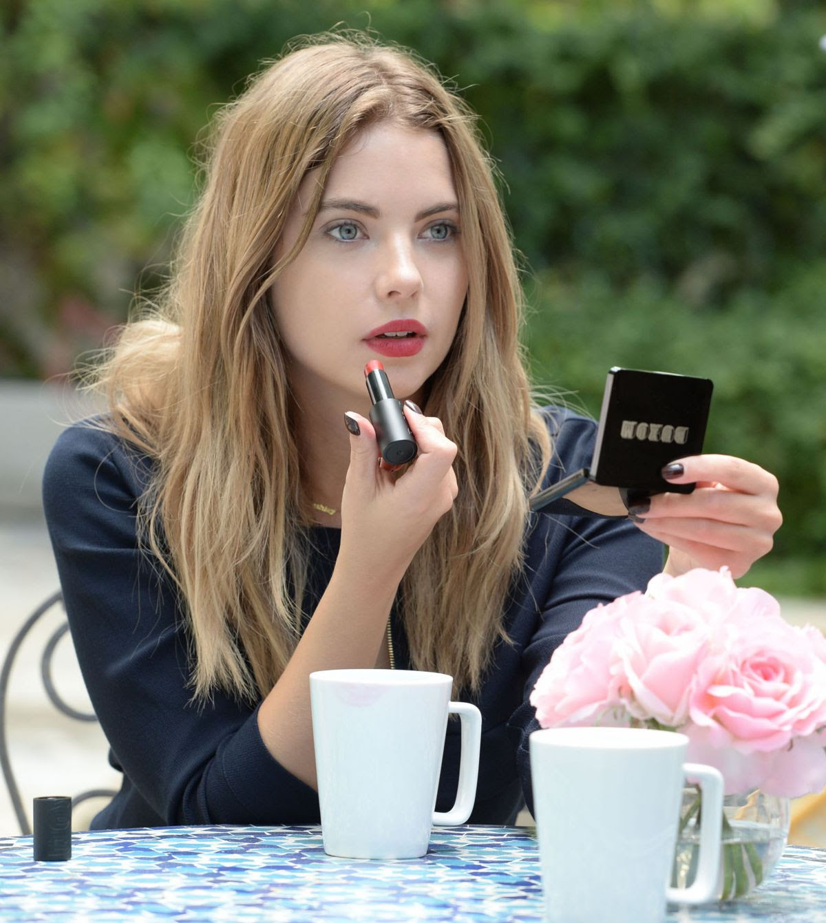 ASHLEY BENSON at Buxom Bold Gel Lipstick Photoshoot in Los Angeles 11/02/2015