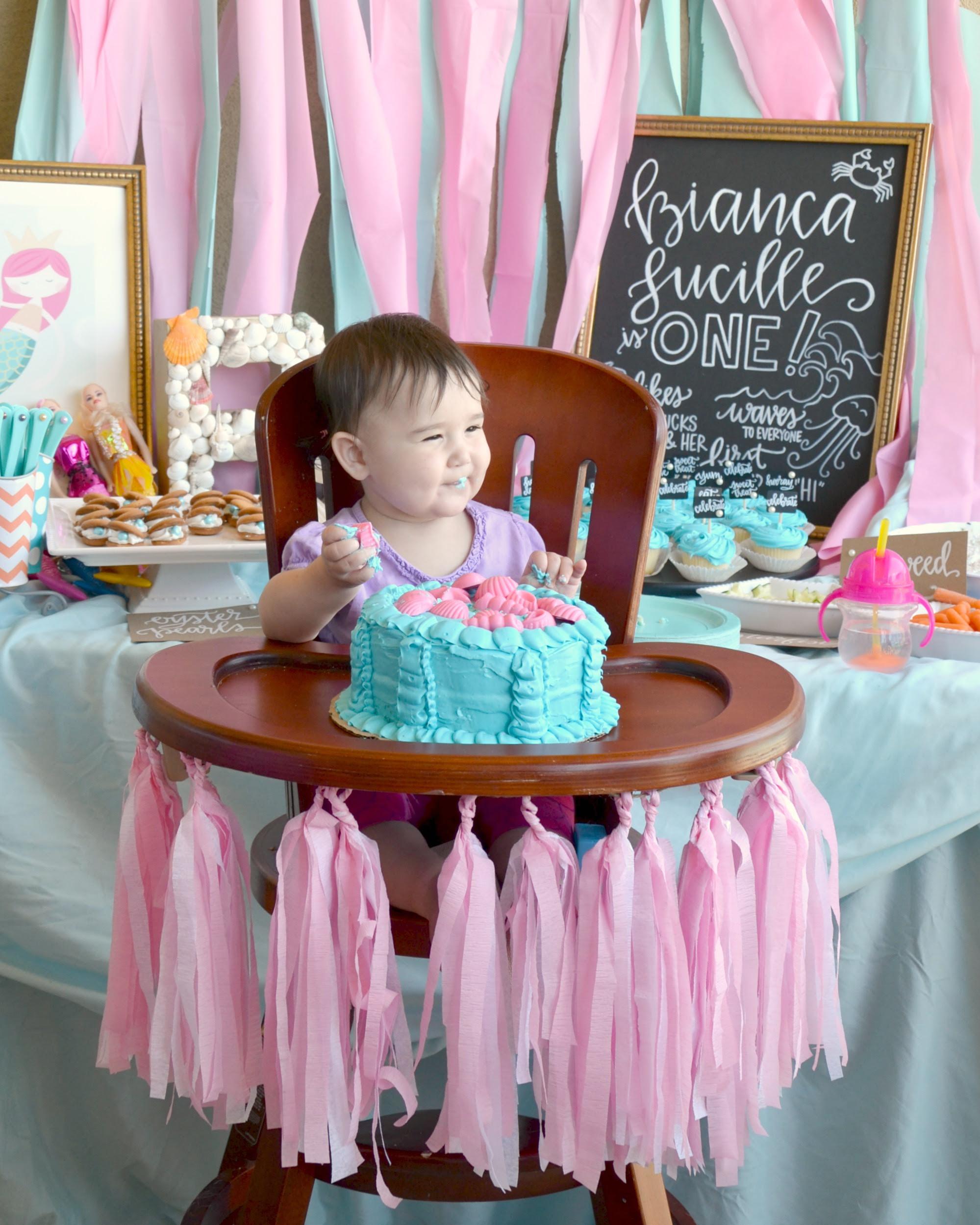 First Birthday Mermaid Party Brie Brie Blooms
