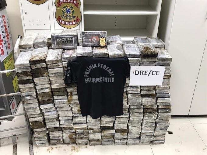 PF e PRF apresentam aumento de 43% na apreensão de cocaína no Ceará, no primeiro semestre de 2020