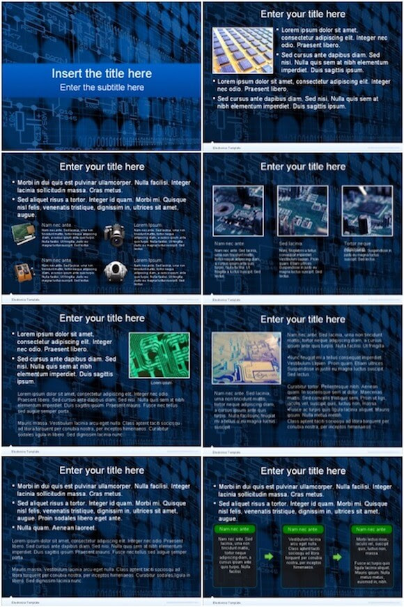 Electronics Powerpoint Template Free