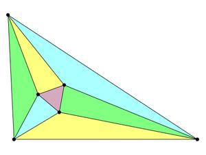 An illustration of Morley's trisector theorem....