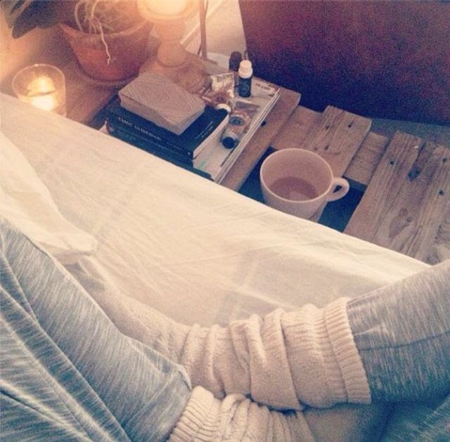 I love getting Pjs on, a book, hot chocolate, blanket and my dog and just getting cosy.