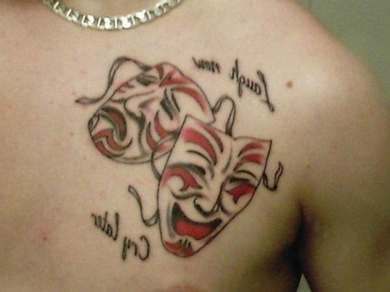 Laugh Now Cry Later Clown Masks Tattoo Tattoos Book 65000