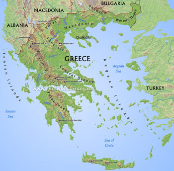greece physical small