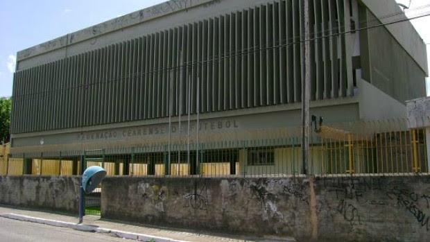Fachada da Federação Cearense de Futebol (Foto: Divulgação)