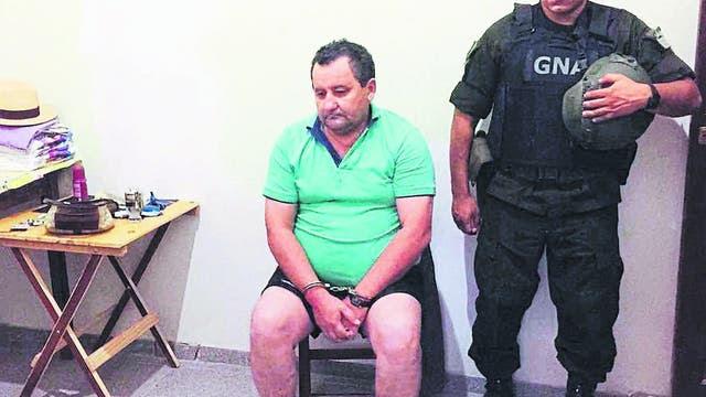"""Natividad """"Roger"""" Terán, intendente de Itatí, poco después de ser detenido por Gendarmería"""