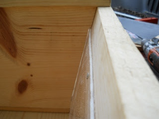 Bees 2012 Top Bar Bee Hive False Back Notched to Fit Over Plexiglass Window