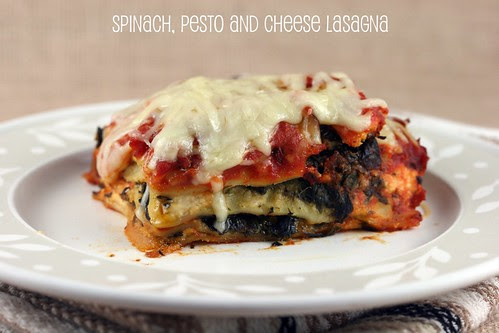 Super-Fast Spinach, Pesto and Cheese Lasagna (Bon Appetit recipe)