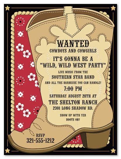 Cowboy Invitations Template   Best Template Collection