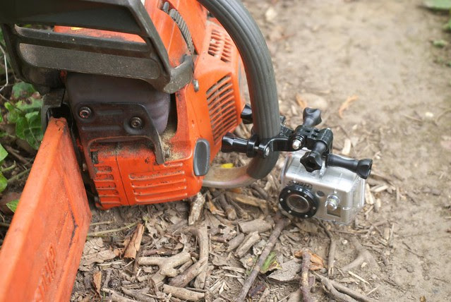 DSC_9000 GoPro mounted on the chainsaw