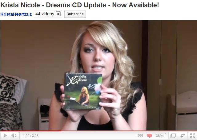Krista's video about the Dreams CD!