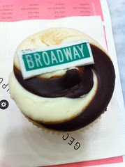 Broadway black and white cupcake at Georgetown Cupcake SoHo by Rachel from Cupcakes Take the Cake