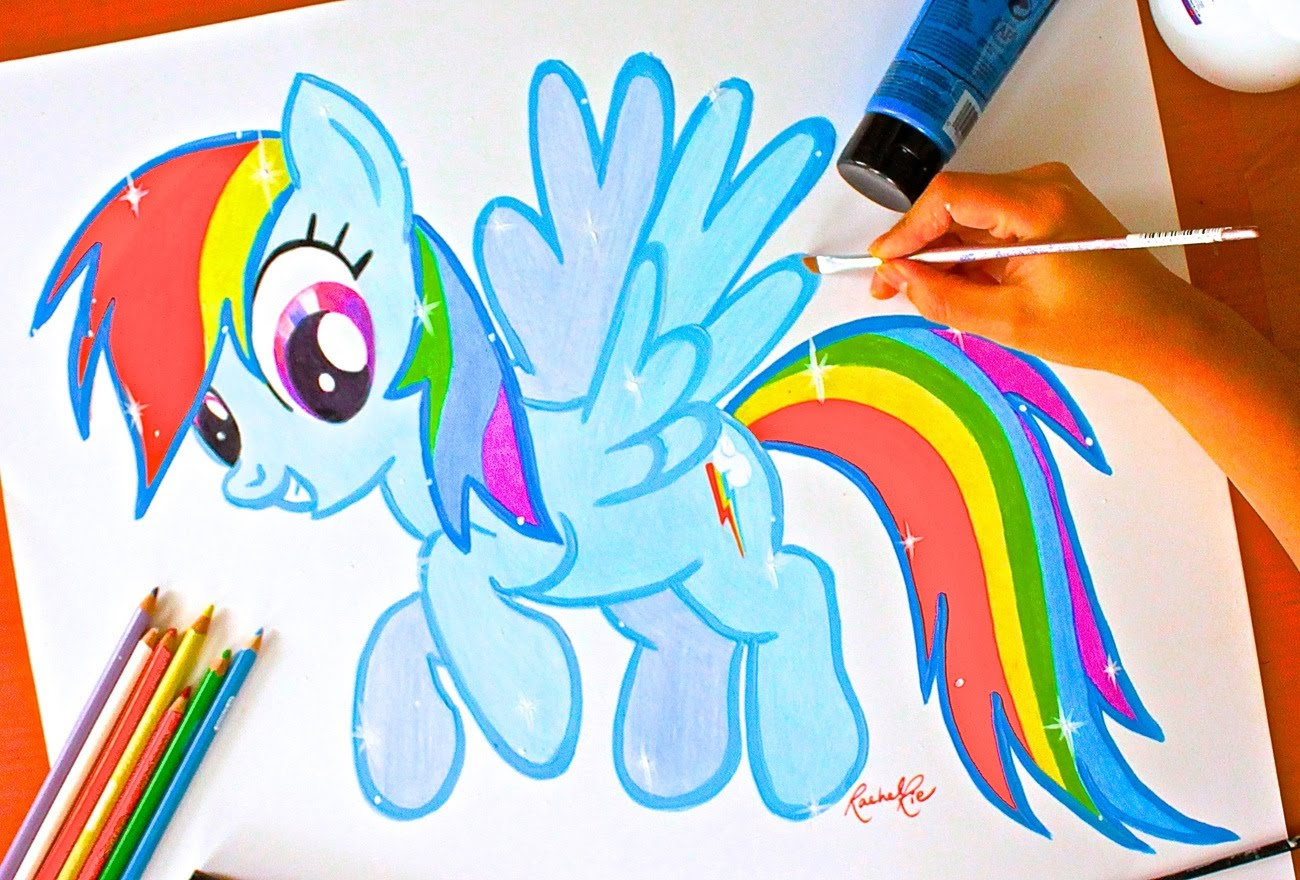 Mlp Rainbow Dash Drawing At Getdrawingscom Free For Personal Use
