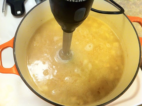 Pureeing Soup with Immersion Blender