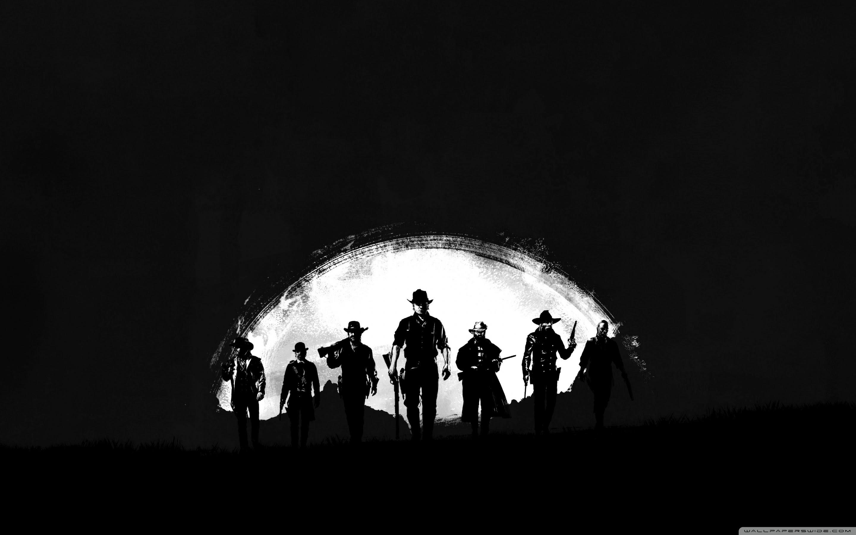 Red Dead Redemption 2 Dark Ultra Hd Desktop Background Wallpaper