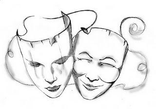 To Draw The Happy And Sad Theatre Masks For A New Tattoo She Wants