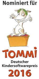 Nominiert für Tommi Deutscher Kindersoftwarepreis 2016