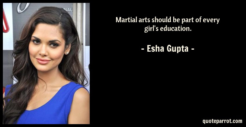 Martial Arts Should Be Part Of Every Girls Education By Esha Gupta