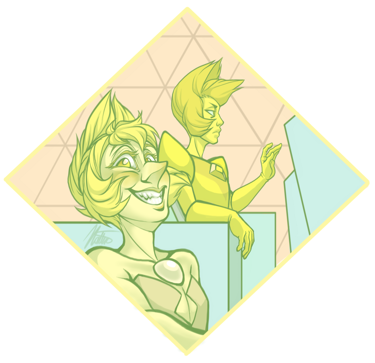 Screenshot redraw of this blessing (I didn't think my first time drawing yellow diamond would be like this…)