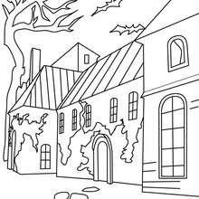 Dibujos Para Colorear Una Casa Encantada Grande Eshellokidscom