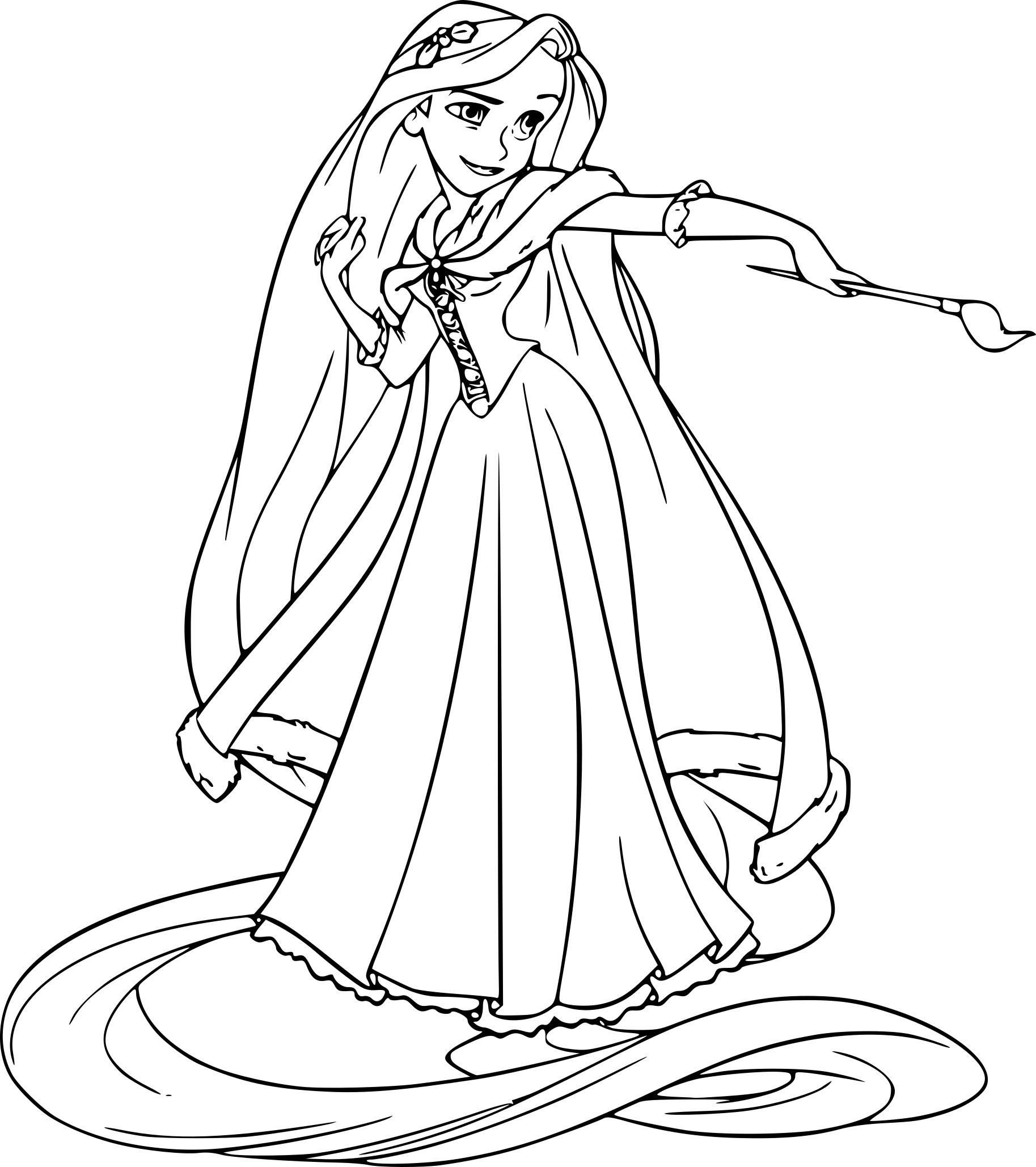 Coloriage Princesse Raiponce à Imprimer Gratuit