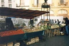 Vegetable Market In Dieppe, France