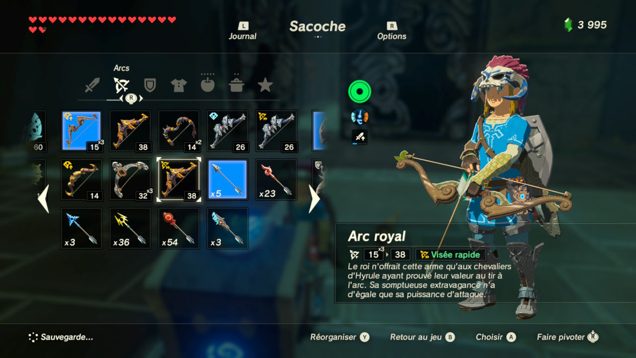 Zelda Breath Of The Wild 141 Les 120 Sanctuaires Récompense