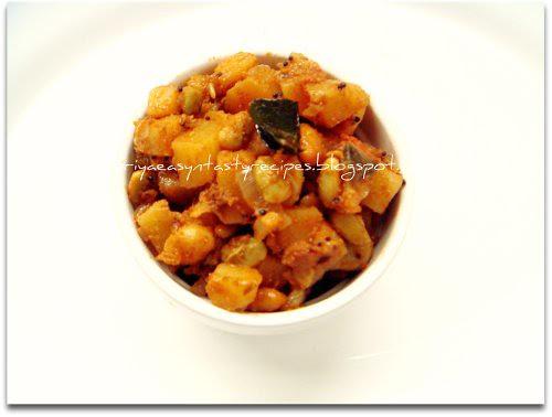 Potato and lilva beans stir fry