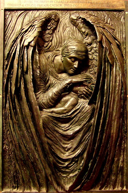 """Part of Commemorative Relief of Triptych """"Death crowning innocence"""""""