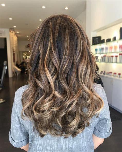 stunning brown hair  highlights