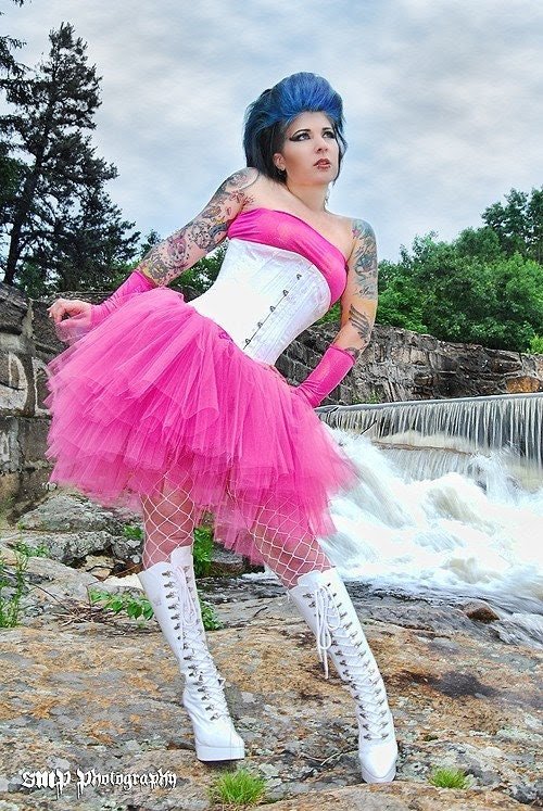 Ultra Pink Ring Master tutu skirt  adult huge poofy -- You Choose Size -- Sisters of the Moon