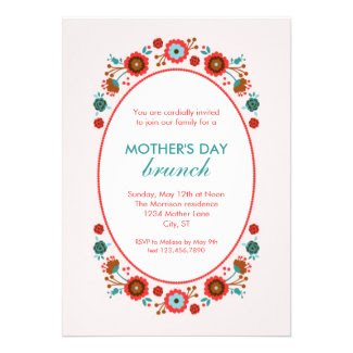 Elegant Floral Mother's Day Invitation