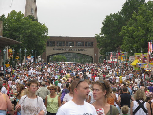 A sea of people