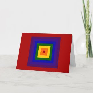 Rainbow Square Cards