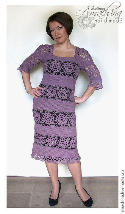 Handmade dresses.  Fair of Masters - handmade.  Buy Dress based on Giovana Dias.  Handmade.  Pale lilac