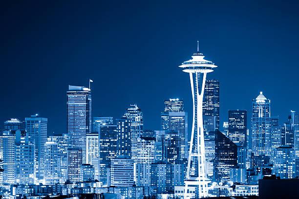 スペースニードル シアトル のスマホ壁紙 Id シアトルの街並みの夜景 壁紙 Com