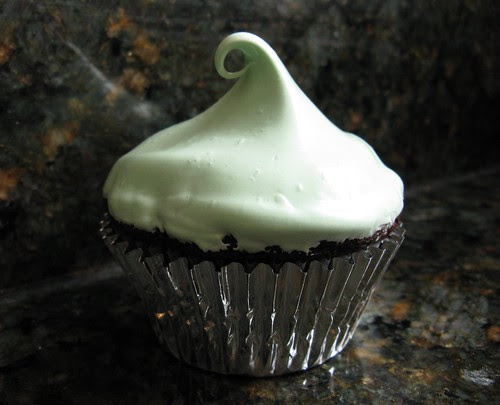 #77 - Dark Chocolate Cupcake with Mint Frosting