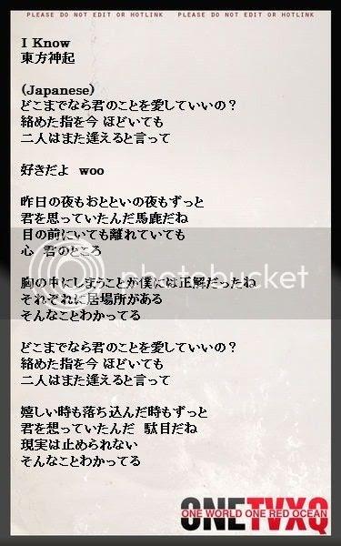 Dbsk picture of you lyrics translation