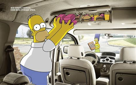 coches homer simpson los simpson marge simpson renault