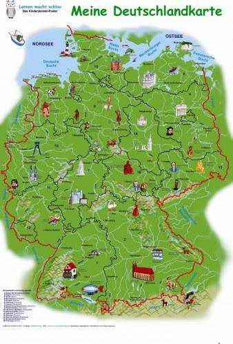 Germany maps for children   kinderpostershop.de