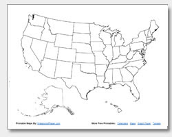 Printable United States Maps | Outline and Capitals